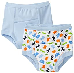 green sprouts by i play. Training Underwear, Blue Jungle, 4T (Pack of 2)