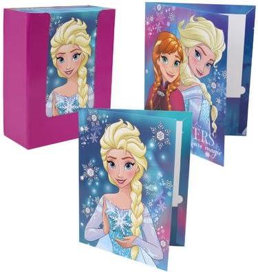 Frozen 2 2019 A4 Clear File Folder 2-pockets Star flakes Disney Japan