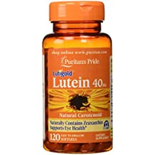 Puritan's Pride Lutein 40 mg with Zeaxanthin-120 Softgels