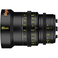 Veydra V1-85T22M43M Mini Prime 85mm T2.2 Metric Cinema Lens with Manual Focus, Black