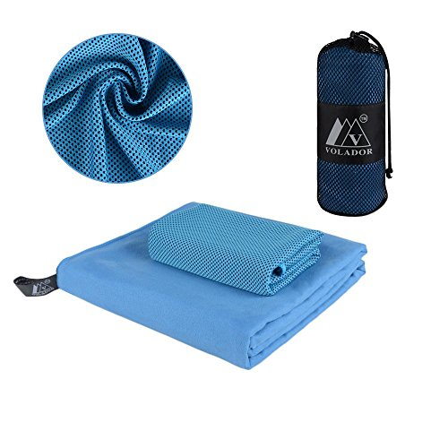 Camping Towel - Ultra Soft Compact Quick Dry Microfiber - Great for Fitness, Hiking, Yoga, Travel, Sports, Backpacking & The Gym - Free Bonus Cooling Towel - Many Colors
