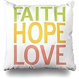 Starodet Throw Pillows Covers For Couch/Bed 18 x 18 inch,Faith Hope Love Inspirational Christian Home Sofa Cushion Cover Pillowcase Gift Decorative Hidden Zipper Summer Beach Sunlight