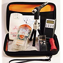 Ghost Hunt Kit - Spirit Box - Ghost Meter Pro & ELF Zone EMF Meters - Recorder - Case & More