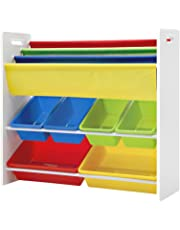 Artiss Kids Bookshelves with Toy Boxes