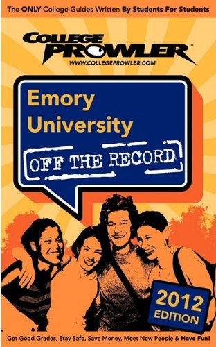 Emory University 2012: Off the Record by Chae Ginny Kyuhee Pope-Roush Jordan (2011-03-15) Paperback