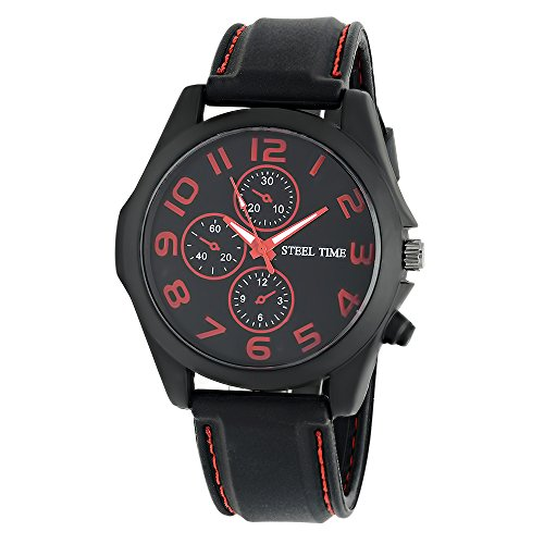 Watch Black Face Rubber Strap - 2