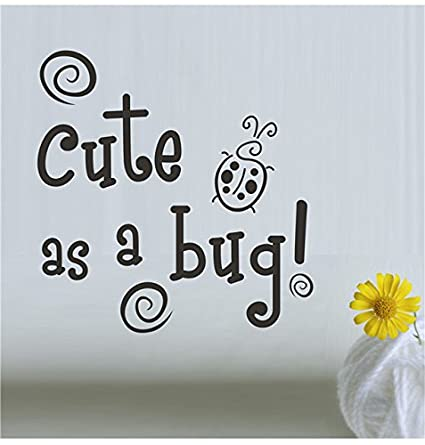 Fashion Shopperrz Wall Decals Quotes Cute As A Bug Blue Green