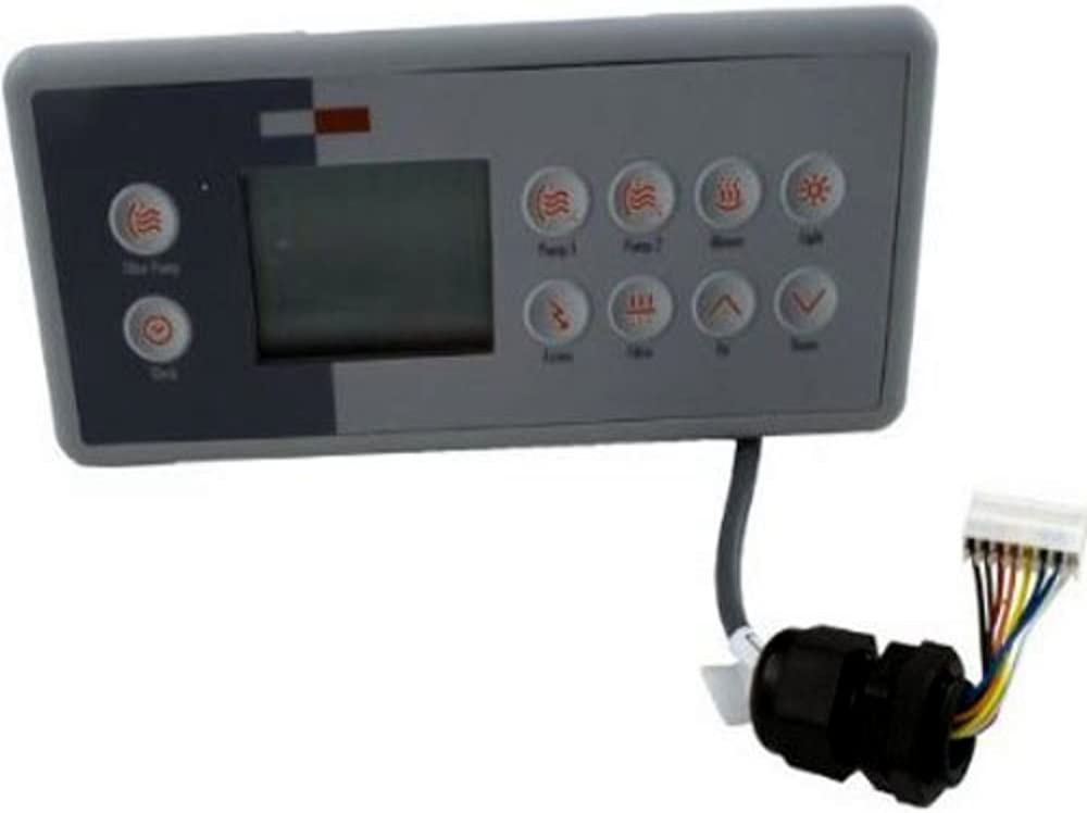 GECKO TSC-4 Ten Key Topside Keypad Bundle with Three Pump Overlay for M-Class Spa Control Systems BDLTSC410K