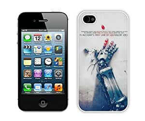 Unique iPhone 4 4S Full Metal Alchemist Alchemy'S First Law Anime White Screen Phone Case Fashion and Popular Design