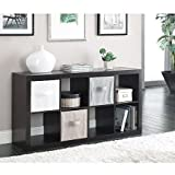 Modern Better Homes and Gardens 8-Cube Organizer, Espresso by Better Homes & Gardens