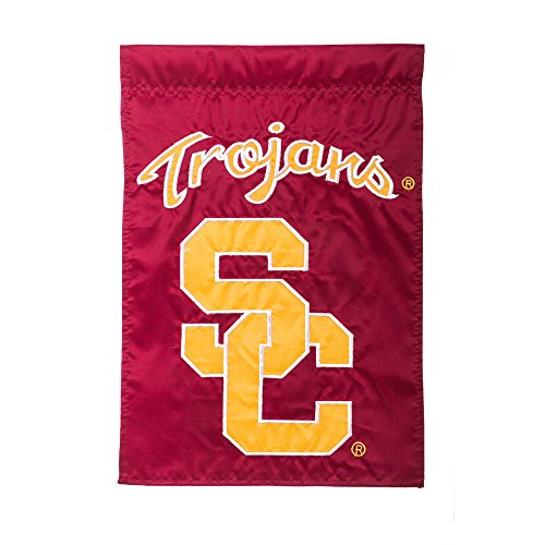 Team Sports America Applique University Of Southern California Trojans Garden Flag, 12.5 x 18 - Southern California Trojans Flag