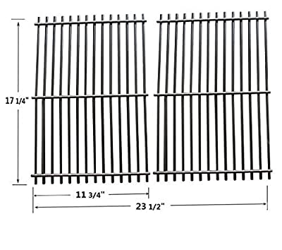 9930 Stainless Steel Cooking Grill Grid / Grate Replacement for Weber 9930 Ducane Lowes Model Grills, Set of 2