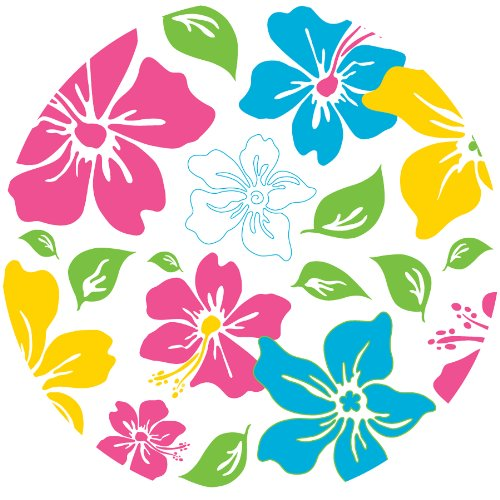 Brewster WPD90254 Wall Pops Island Fusion Pink Dot, Set of 5 (Island Fusion)