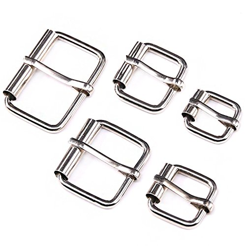 Swpeet 50 Pcs Assorted Multi-Purpose Sliver Metal Roller Buckle Ring for Hardware Belt Bags Ring Hand DIY Accessories -13mm,15mm, 20mm, 25mm, 32mm (Small Buckle)