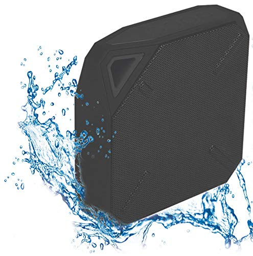 Aqua Sound Water Proof Travel Bluetooth Speaker with Bluetooth BK 4.1, 1.8W Output Power and Ipx7 Water Proof Level, Black
