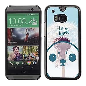 Skull Market - FOR HTC One M8 - let's go travel - Mano cubierta de la caja pintada de encargo de lujo