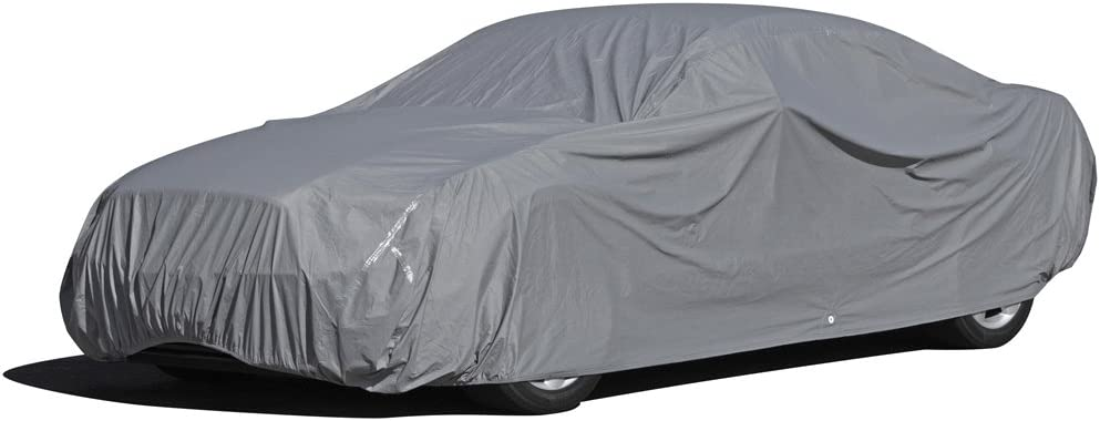 OxGord Executive Storm-Proof Car Cover -Water Resistant 7 Layers -Developed for Any All Conditions - Fit Semi Glove Fit – Large Fits up to 180 Inches