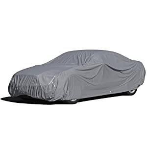 OxGord 5 Layer Waterproof Car Covers w/Fleece Inner Lining - Fits up to 204 Inches - Heavy Duty All Weather Car Accessories for Automobiles in & Outdoor Auto Cover Protection