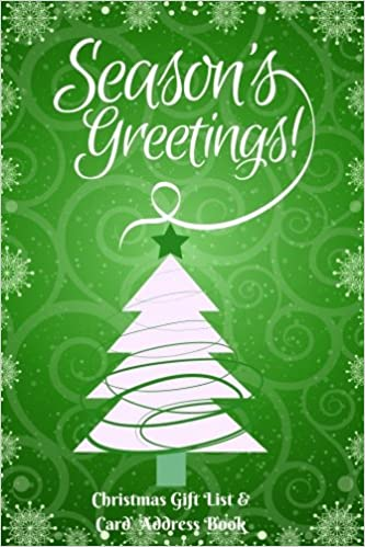 Buy seasons greetings christmas gift list and card address book buy seasons greetings christmas gift list and card address book keep track of seasonal greeting cards to from family and friends with our handy m4hsunfo