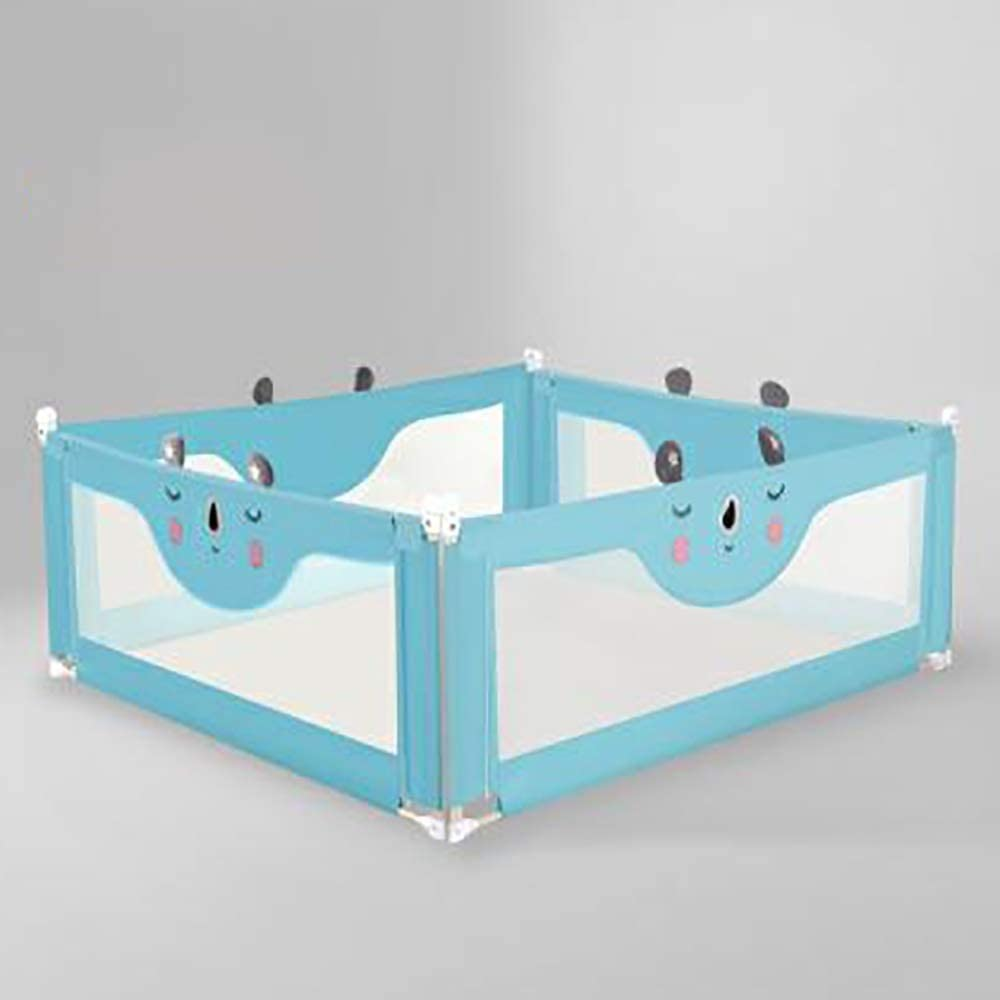 ベッドガード 子供の1pcsのための余分なロングベビーベッドレールガード用キッズツイン・ダブルフルサイズの幼児用ベッドのRails (色 : 青, サイズ : 220cm)
