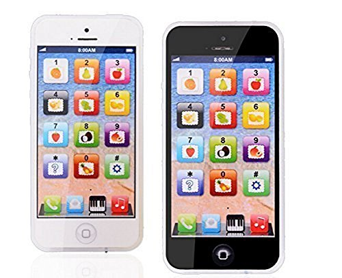 YPhone Kids Learning Toy Play Cell Phone Black with USB Recharable