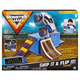 Monster Jam Ship It & Flip It Transforming Playset with 1:64 Die-Cast Truck, Multicolor