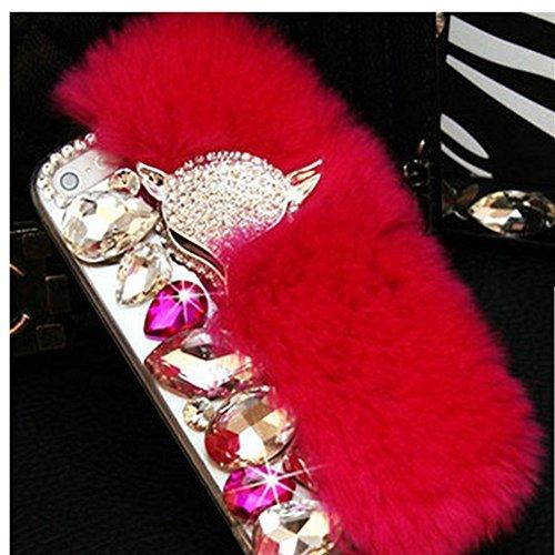EVTECH (TM) luxe en Cristal de diamant de Bling strass Hard Cover Case Coque Housse Etui protection pour Apple iPhone 6 Plus 5.5 pouces