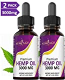 (2-Pack) 3000mg Hemp Oil Extract for Pain & Stress Relief - 3000mg of