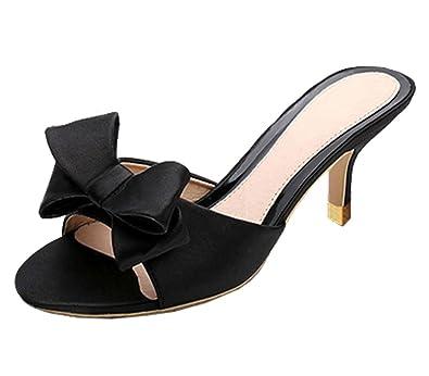 Damenschuhe  Sandaletten  Sommerschuhe  High Heels Keilabsatz  mit Schleife gr41