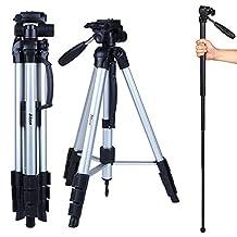 "Trippod Albott 70"" Travel Portable DSLR Camera Tripod Monopod Flexible Head for Canon Nikon with Carry Bag"