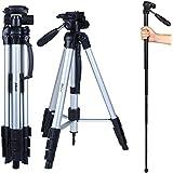 Albott 70 Travel Portable DSLR Camera Tripod Monopod Flexible Head for Canon Nikon with Carry Bag
