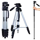 Albott 70'' Travel Portable DSLR Camera Tripod Monopod Flexible Head for Canon Nikon with Carry Bag