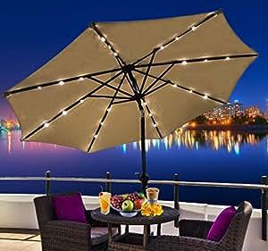 Amazon Com Outsunny Outdoor Patio Umbrella With Tilt And