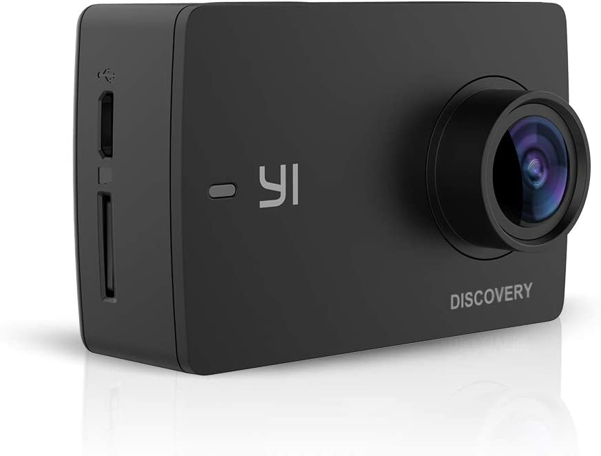 YI Discovery 4K Action Camera Telecamera Sportiva Fotocamera Videocamera di Azione 8MP WiFi 150° Grandangolare LCD Touch screen Sensore Sony Telecomando per APP con batterie ricaricabili
