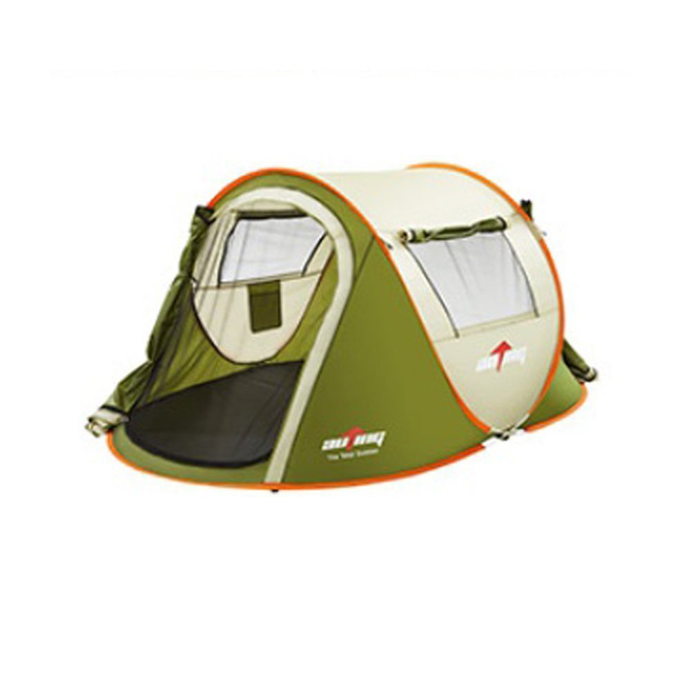auting 4 person instant pop up tent two double doors two windows set