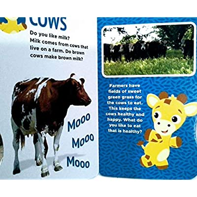 Dreamtivity Baby Einstein Farm Friends and at The Park Video Fun Board Book with Sound & Action App - Set of 2: Toys & Games
