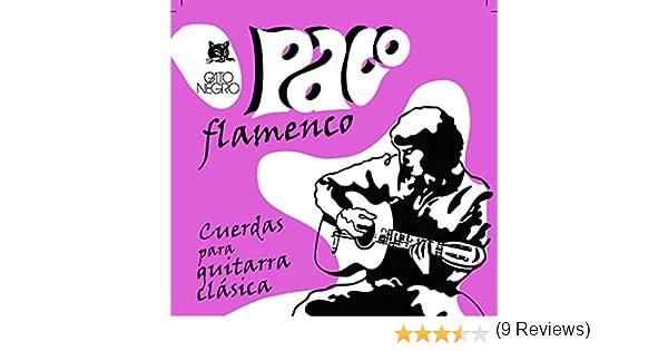 Gato Negro - Juego de cuerdas guitarra flamenca paco: Amazon.es ...