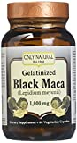 ONLY NATURAL Gelatinized Black Maca 1000 mg 60 Vgc, 0.02 Pound