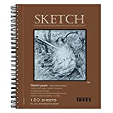 trees Sketch Pad with Side Bound Spiral 9x12 Inches 120 Sheets Sketch Book for Drawing