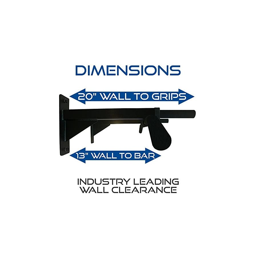 Ultimate Body Press Wall Mounted Pull Up Bar and Gymnastic Rings Package