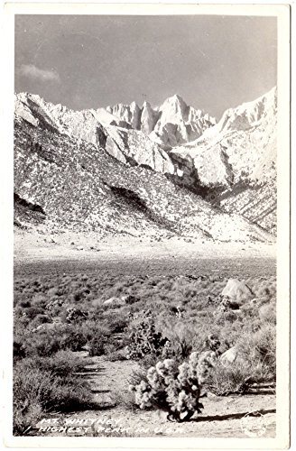 (Real Photo Postcard Mt. Whitney the Highest Peak in the USA)
