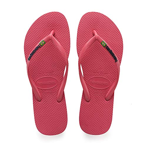0579 43 Havaianas Donna Eu Brasil 44 Logo flamingo Rosa Infradito Slim qq7BCw