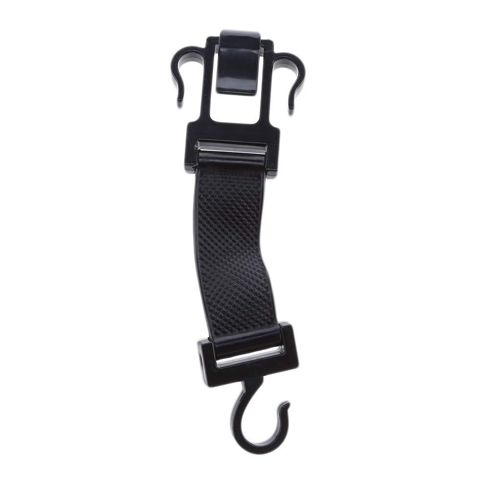 SOURBAN Car Seat Hook Black Plastic Headrest Handbags Purses Coats and Grocery Bags Hanger