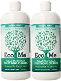 Eco-Me Natural Powerful Toilet Bowl Cleaner, Herbal Mint, 32 Fluid Ounce (2-Pack)