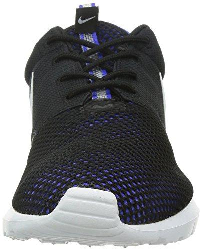 Nike Rosherun Nm Br Mens Kör Tränare 644425 Gymnastikskor Svart / Persisk Violett / Vit