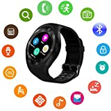 Bluetooth Smart Watch Touch Screen DMDG Smart Fitness Watch with Touch Screen Unlocked Watch Cell Phone with Sim Card Slot, Smart Wrist Watch for Kids Girls Boys Men Women(Black)