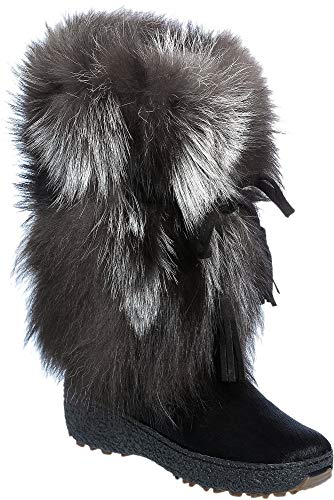 Women's Gigi Wool-Lined Fox Fur and Calfskin Boots