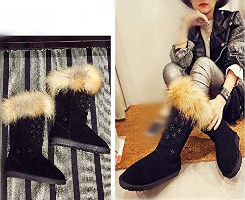 wdjjjnnnv Super Warm Leather Women's Snow Boots 34 dE3Aum5tq