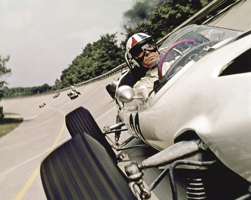 James Garner in Grand Prix on race track in Formula 1 car 16x20 Poster ()