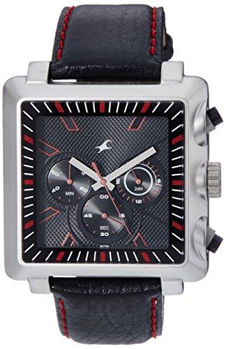 Fastrack Chronograph Black Dial Men's Watch   3111SL01 / 3111SL01